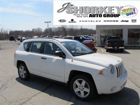 jeep compass sport white used 2008 jeep compass sport 4x4 for sale stock 13215a
