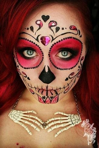 box sugar skull makeup ideas