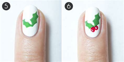 christmas nails   holly jolly mani morecom