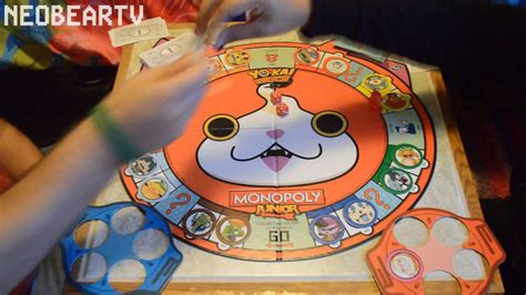 lets play monopoly junior yo kai  edition youtube