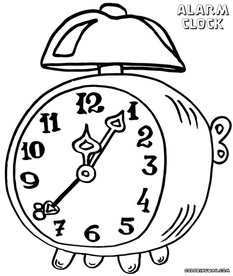clock coloring page alarm clock coloring pages