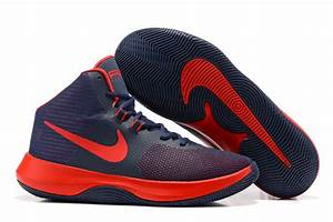 Navy Blue Red And White Basketball Shoes - Style Guru ...