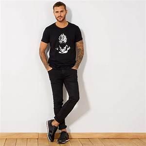 Kiabi T Shirt Homme : t shirt 39 dragon ball z 39 homme noir kiabi 13 00 ~ Nature-et-papiers.com Idées de Décoration