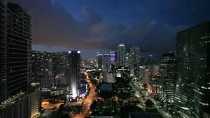 Stock Video Footage Of Brickell Miami At Night Stock ...