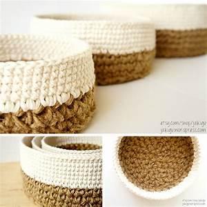 Corbeille Au Crochet : m thode grand m re aline cerise corbeille crochet et tricot ~ Preciouscoupons.com Idées de Décoration