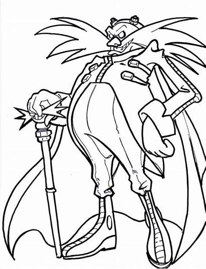 Eggman Coloring Pages Dr Sonic Colouring Robotnik