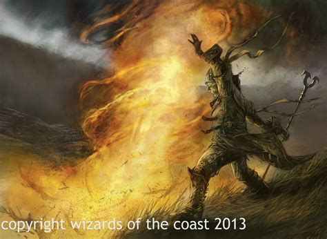 Magic The Gathering Wallpaper Pillar Of Fire By Dave Kendall On Deviantart