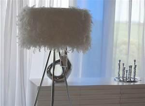 Stehlampe Mit Federn : stehlampe stehleuchte feder feather 160cm auf vernickeltem dreibein modern ebay ~ Sanjose-hotels-ca.com Haus und Dekorationen