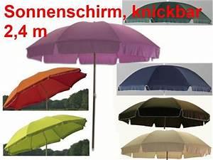 Sonnenschirm Knickbar Höhenverstellbar : sonnenschirm knickbar garten balkon strand 240 cm 8 farben zur auswahl ebay ~ Buech-reservation.com Haus und Dekorationen