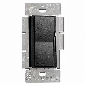 Satin Black Rocker Dimmer Switch