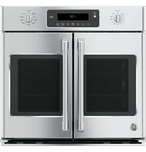 ge cafe series  built  french door single convection wall oven ctfpn  appliances