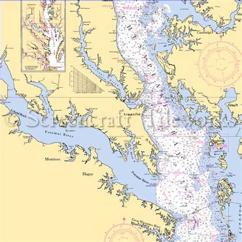 maryland potomac river md va nautical chart decor