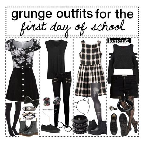 Grunge outfits for the first day of school // k e n d a l l | Grunge outfits Pop punk and Grunge