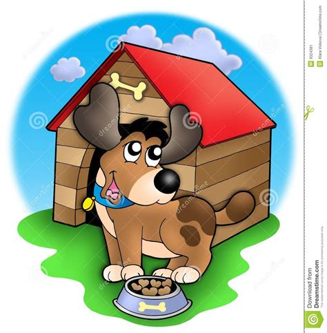 cute dog  front  kennel stock image image