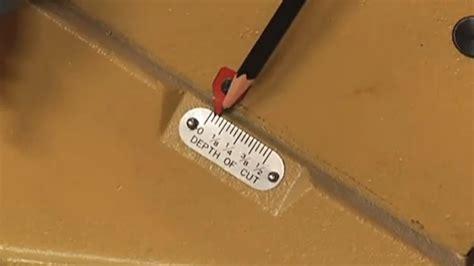set depth   cut   jointer