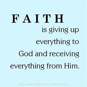 FAITH is giving up everything to GOD | Heart's ...