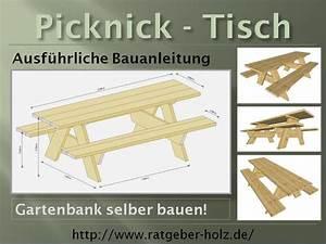 Einen picknick tisch selber bauen bauanleitung intro for Bauanleitung tisch