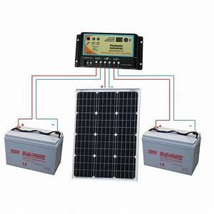 60w 12v Dual Battery Solar Charging Kit Motorhome  Caravan