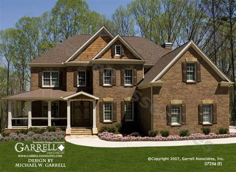 garrell associates  oxford  house plan  front elevation traditional style house