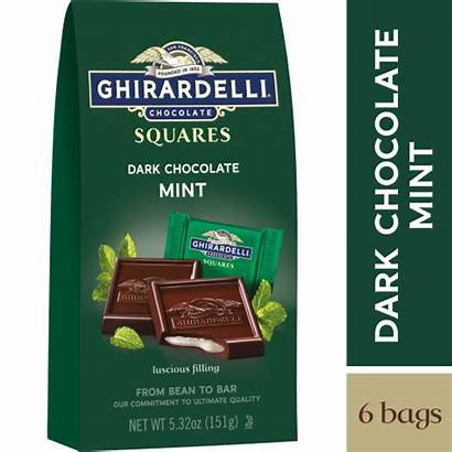 Ghirardelli Chocolate Mint Squares Dark Oz Filling