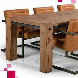 Table Chene Et Metal : table vieux ch ne et metal aravis meubles ~ Teatrodelosmanantiales.com Idées de Décoration