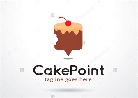 cake logos  editable psd ai vector eps format