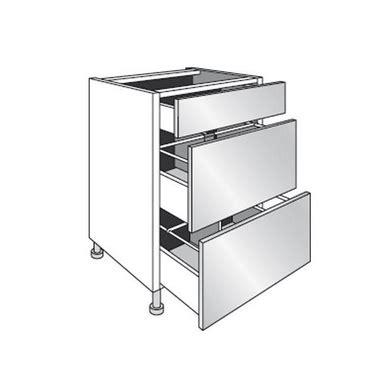caisson cuisine lapeyre meuble de cuisine bas range casseroles avec 3 tiroirs l