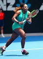 Serena Williams Wears Green Romper and Fishnets at Australian Open   PEOPLE.com