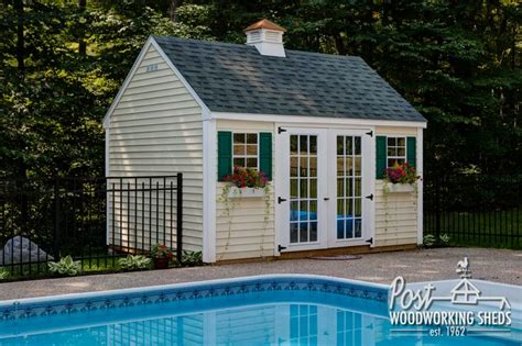 lexington pool shed  cupola post woodworking sheds