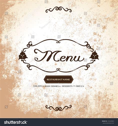 restaurant menu card vector illustrator graphic stock