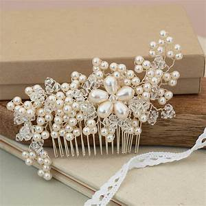 Maya Vintage Pearl Bridal Hair Comb By Jewellery Made By