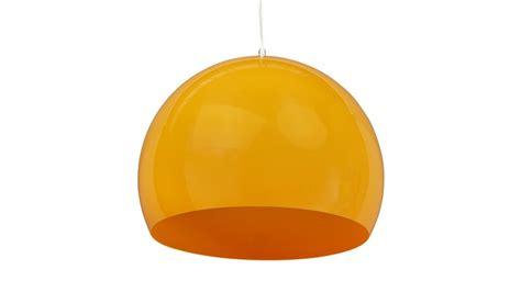 abat jour orange suspension abat jour boule orange