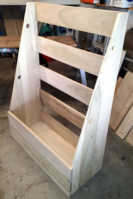 bob penoyers scrap wood storage rack woodworking project page