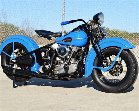 A Flawless Example Of A Harley Knucklehead Bobber