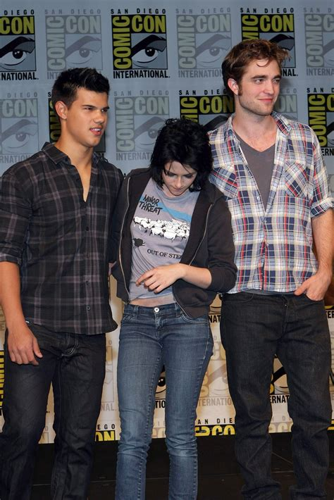 Kristen Stewart and Robert Pattinson Taylor Lautner