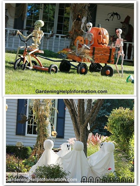 outdoor decor halloween pinterest