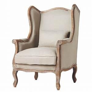 Fauteuil Crapaud Maison Du Monde : fauteuil berg re en lin manoir maisons du monde ~ Melissatoandfro.com Idées de Décoration