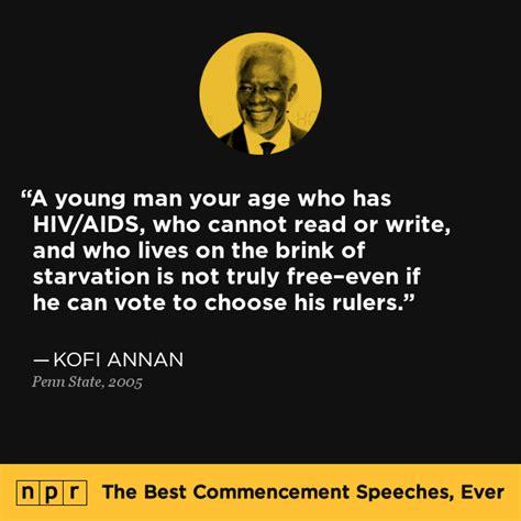 Kofi Annan at Penn State, 2005 : The Best Commencement ...