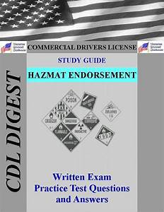 Cdl Practice Test Study Guide  Hazmat Endorsement By Cdl