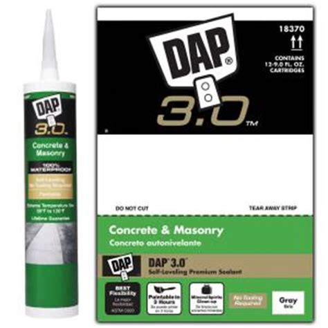 dap 3 0 9 oz advanced self leveling concrete sealant 12