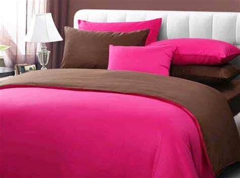 detail product seprei dan detail product seprei dan bedcover polos pink mix coklat