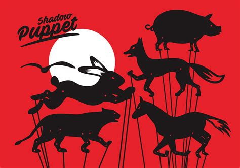 shadow puppet vector set free vector stock