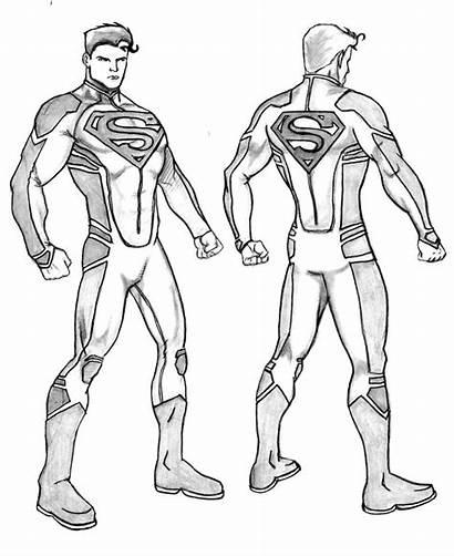 Superboy Superman Deviantart Coloring Justice 52 League