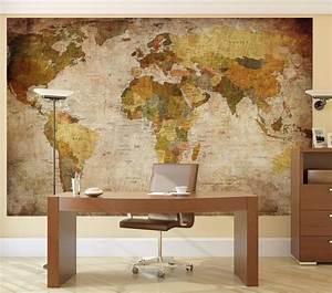 Poster Mural Grand Format : vintage world map wall mural ~ Carolinahurricanesstore.com Idées de Décoration