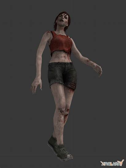 Zombie Zombies Female Animated Photoshop Import Operation