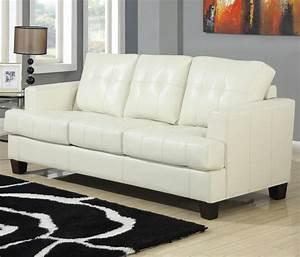 Samuel Beige Leather Sofa Bed Steal A Sofa Furniture