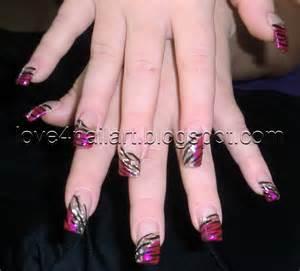 Love nailart wild zebra nails