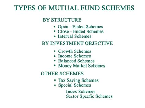 mutual fund concept types  flow chart ats