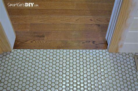 hexagon mosaic tile shower floor guest bathroom 7 diy hex tile floor