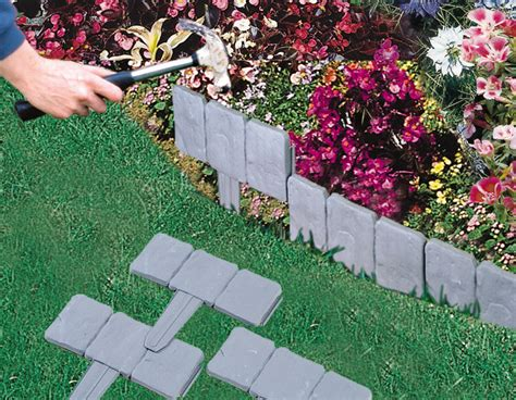 lakeland lawn and garden lakeland cobbled effect hammer in border edging